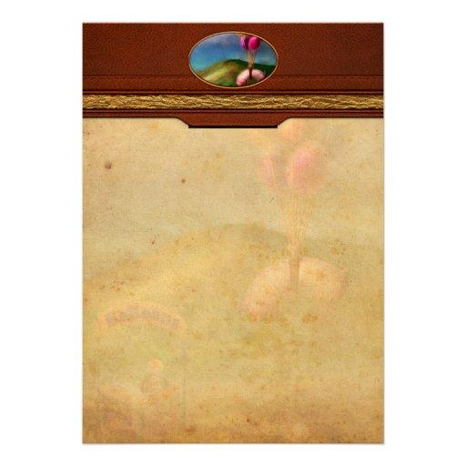 Flying Pig - Child - How I wish I were a bird Custom Invitations