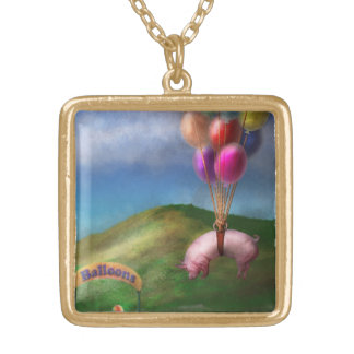 Flying Pig - Child - How I wish I were a bird Custom Necklace