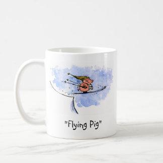 Flying Pig - Cool Ski Jumping Pig Athlete Coffee Mug