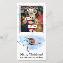 Flying Pig - Cool Ski Jumping Pig Athlete Holiday Card