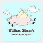 Flying Pig Custom Stickers