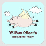 Flying Pig Custom Stickers Square Sticker