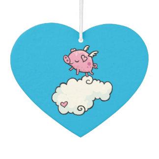Flying pig dances on clouds