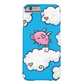 Flying pig dances on clouds barely there iPhone 6 case