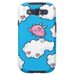 Flying pig dances on clouds samsung galaxy s3 covers