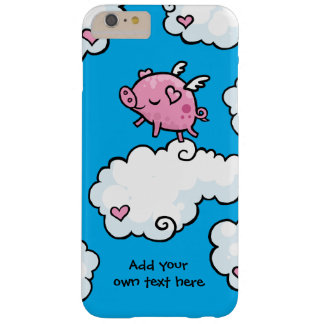 Flying Pig Dances on Clouds Customisable Barely There iPhone 6 Plus Case