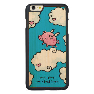 Flying Pig Dances on Clouds Customisable Carved® Maple iPhone 6 Plus Slim Case