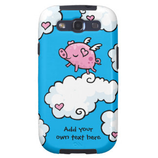 Flying Pig Dances on Clouds Customisable Galaxy SIII Cover
