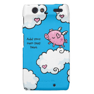 Flying Pig Dances on Clouds Customisable Droid RAZR Cover