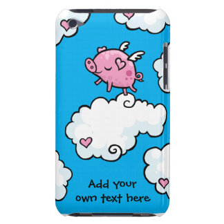 Flying Pig Dances on Clouds Customisable iPod Case-Mate Cases