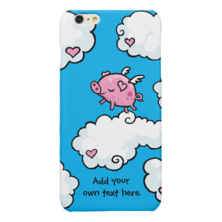 Flying Pig Dances on Clouds Customisable Glossy iPhone 6 Plus Case