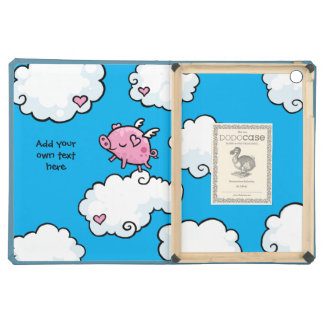 Flying Pig Dances on Clouds Customisable iPad Air Case