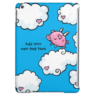 Flying Pig Dances on Clouds Customisable iPad Air Cases