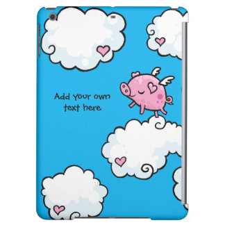 Flying Pig Dances on Clouds Customisable iPad Air Cover