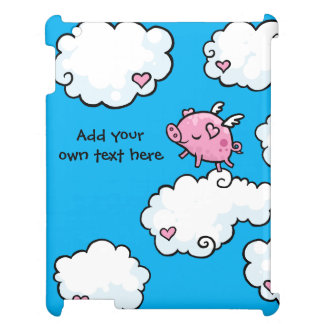 Flying Pig Dances on Clouds Customisable iPad Case