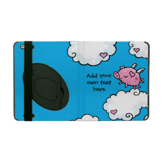 Flying Pig Dances on Clouds Customisable iPad Cover