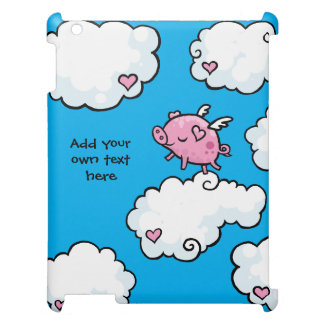 Flying Pig Dances on Clouds Customisable iPad Covers