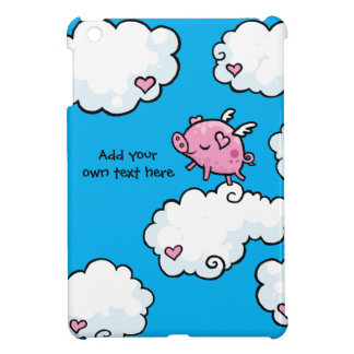 Flying Pig Dances on Clouds Customisable iPad Mini Cases