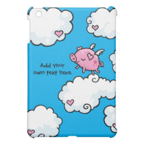 Flying Pig Dances on Clouds Customisable iPad Mini Cover
