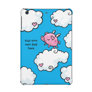 Flying Pig Dances on Clouds Customisable iPad Mini Retina Cases