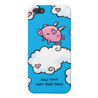 Flying Pig Dances on Clouds Customisable Case For The iPhone 5