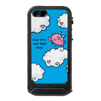 Flying Pig Dances on Clouds Customisable Incipio ATLAS ID™ iPhone 5 Case