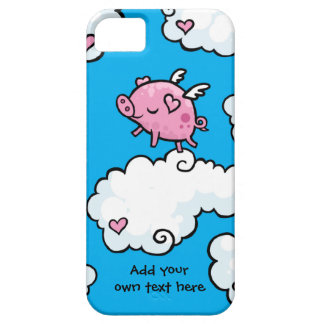 Flying Pig Dances on Clouds Customisable iPhone SE/5/5s Case
