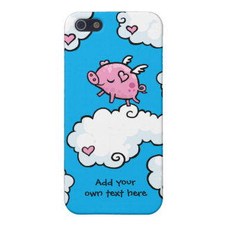Flying Pig Dances on Clouds Customisable iPhone SE/5/5s Cover