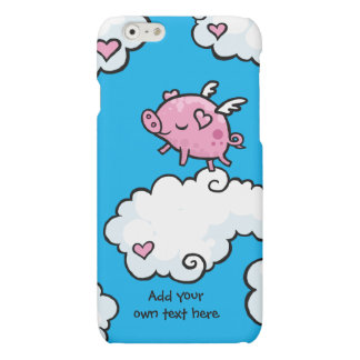 Flying Pig Dances on Clouds Customisable Matte iPhone 6 Case