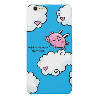 Flying Pig Dances on Clouds Customisable Matte iPhone 6 Plus Case