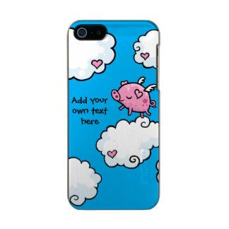 Flying Pig Dances on Clouds Customisable Metallic Phone Case For iPhone SE/5/5s