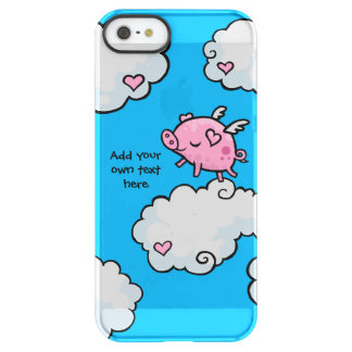 Flying Pig Dances on Clouds Customisable Permafrost® iPhone SE/5/5s Case