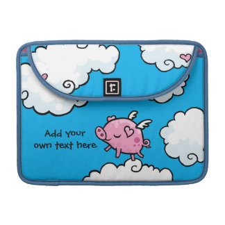 Flying Pig Dances on Clouds Customisable Sleeve For MacBooks