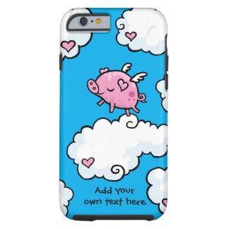 Flying Pig Dances on Clouds Customisable Tough iPhone 6 Case
