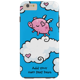 Flying Pig Dances on Clouds Customisable Tough iPhone 6 Plus Case