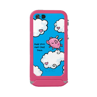 Flying Pig Dances on Clouds Customisable Waterproof Case For iPhone SE/5/5s