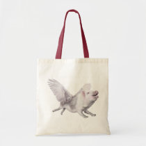 Flying Pig Earth Conscious Joy Tote Bag Gift Flies