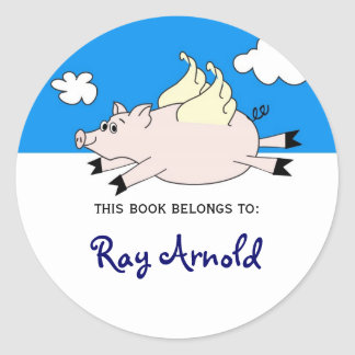 Flying Pig Fish Bookplates