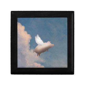 flying pig giftbox trinket box