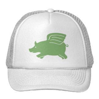 Flying Pig  -  Green Trucker Hat