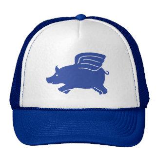 Flying Pig Hat - Blue