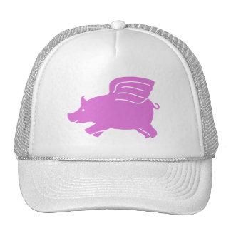 Flying Pig Hat -  Pink