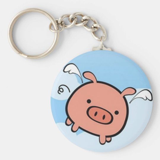 Flying Pig Key Chain