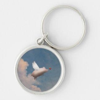 flying pig keychain