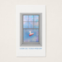 Flying Pig-Look Out Your Window Business Card