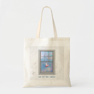 flying pig-look out your window tote bag