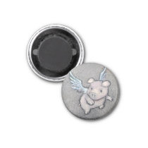 flying pig magnet