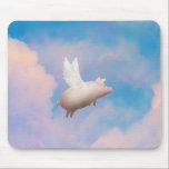 "flying pig mousepad<br><div class=""desc"">like us on facebook: www.facebook.com/pigfeathers</div>"