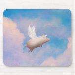 "flying pig mousepad<br><div class=""desc"">like us on facebook: www.facebook.com/pigfeathers</div>"