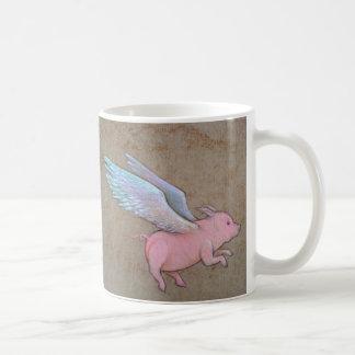 flying pig mug
